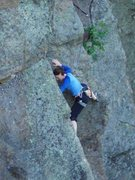 Rock Climbing Photo: The last few, hard moves of the puzzling open book...