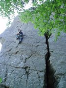 Rock Climbing Photo: Rhiannon enjoying the featured face of Bozeman Bul...