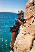 Rock Climbing Photo: My son Tristan, age 7, at Capo Noli in Italy