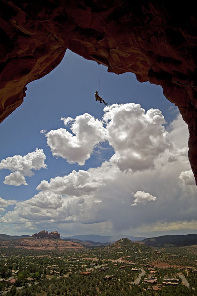 Rock Climbing Photo: Lowering off Mission To Mars.  Photo by Bennett Ba...