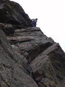 Rock Climbing Photo: Jug hauling to the anchor.