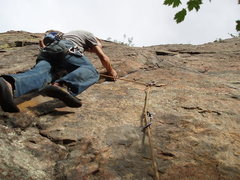 Rock Climbing Photo: On the way to sloper town.