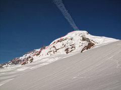 Rock Climbing Photo: Mt. Baker. North Ridge with the overlay topo of ou...