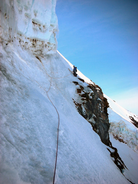 Belay over the north face.