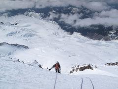 Rock Climbing Photo: Mt. Baker. Ice slopes just above serac walls. Cole...