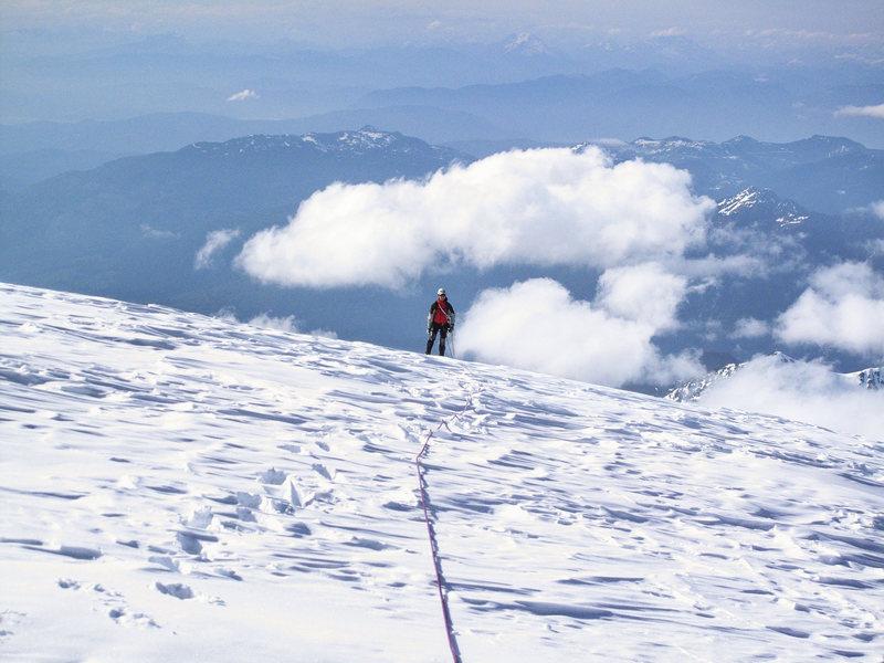 Mt. Baker. On the summit cap.