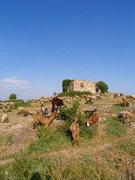 Rock Climbing Photo: Ruins above La Mussara refugio and camping.