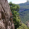 Tristan Hechtel on Can Margues, Upper, a cliff with a short approach and an assortment of climbs.