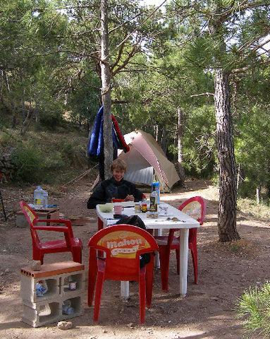 Our campsite in Siurana