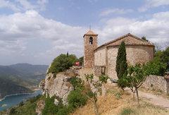 Rock Climbing Photo: Ruins of an old church above Lake Siurana