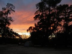 Rock Climbing Photo: Sunset from Yellow Gum