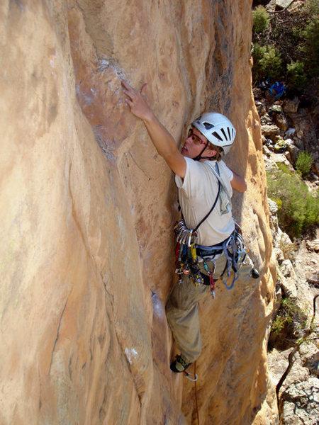 Rock Climbing Photo: Tristan on Squeakeasy