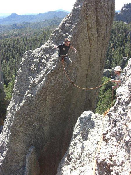 Rock Climbing Photo: John's Jump....needles eye area. fall '08