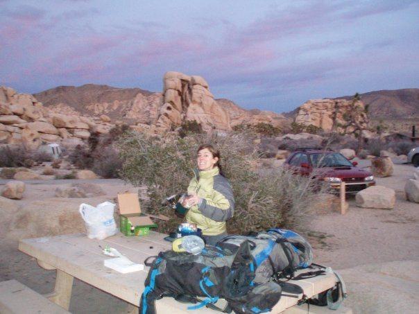 Rock Climbing Photo: making dinner at j-tree