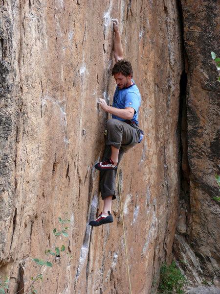 Rock Climbing Photo: EM on I've been robbed. Photo: John Bachar 2/09