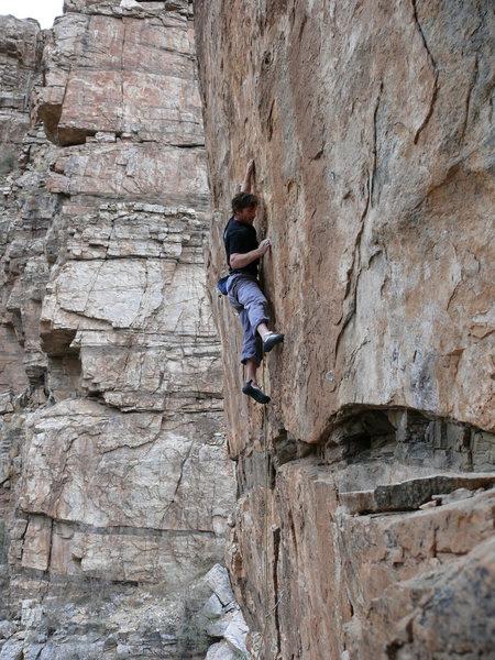 Rock Climbing Photo: EM at the Saguaro Corner wall. Photo by J. Bachar ...