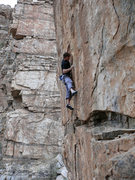 Rock Climbing Photo: EM at the Saguaro Corner wall. Photo by J. Bachar ...