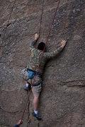 Rock Climbing Photo: Rick battling K'Nex