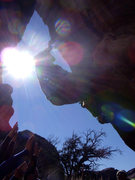 Rock Climbing Photo: DragonFly at Hueco with the sun behind me