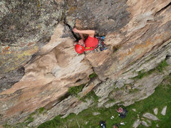 Rock Climbing Photo: Good jugs on the wall next and a solid crack for g...