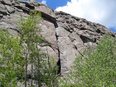 Rock Climbing Photo: Roof By-Pass follows the crack that's under the pr...