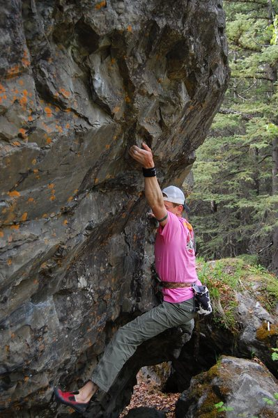 Rock Climbing Photo: A V9 called Powder Puff at Chickaloon, AK