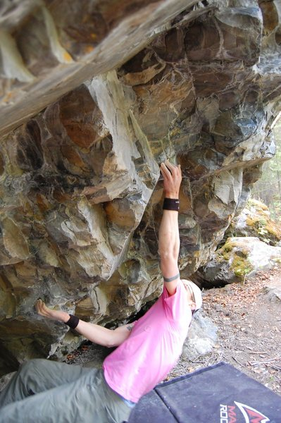 Rock Climbing Photo: A V8?(now missing a hold) called Thunder Fluff at ...