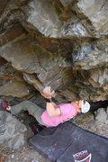 Rock Climbing Photo: Thunder Fluff V8?(and now harder) Chickaloon, AK