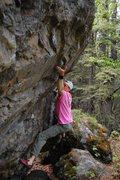 Rock Climbing Photo: Powder Puff, a V9 at Chickaloon, AK