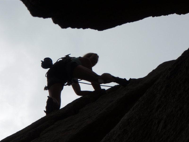 Rock Climbing Photo: Cindy D.  layin' it back....