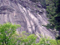 Rock Climbing Photo: Climbers at both end anchors of P5.