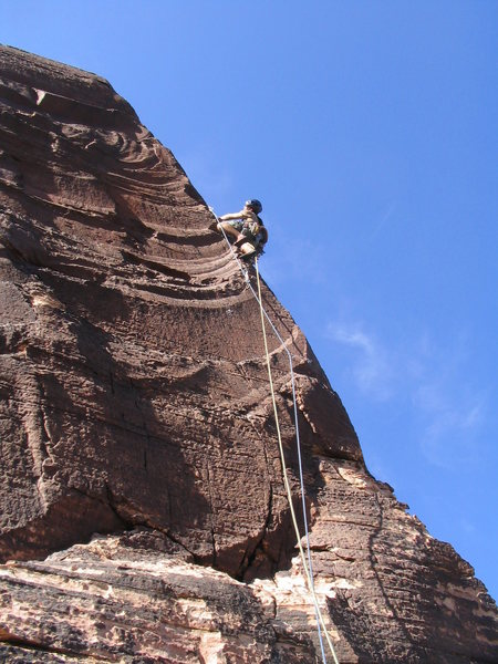 Rock Climbing Photo: darren on arete finish of cat in the hat (10).  ph...
