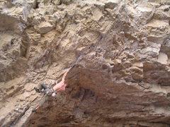 Rock Climbing Photo: Jonathan, Swamp Thing (13c), Arrow Canyon, Glendal...