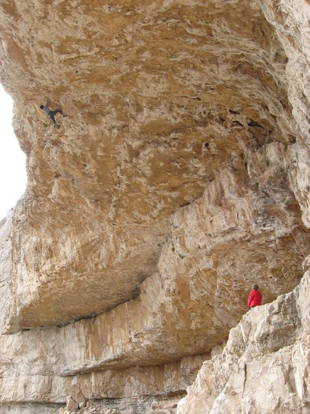 Rock Climbing Photo: Sebastian, Countdown to Extasy (13a) Mt. Potosi, L...