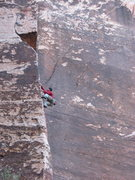 Rock Climbing Photo: Joel, Five and Dime (5.10) Pine Creek, Red Rock, N...