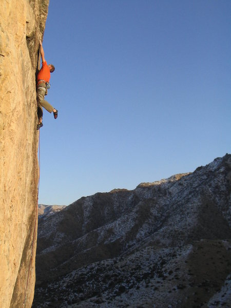 Rock Climbing Photo: Jonthan. Digimon (12+) Sun City, Mesquite, NV.