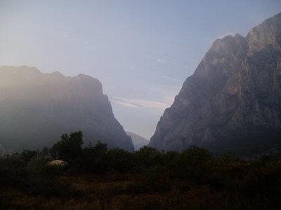 Rock Climbing Photo: Sunrise on my tent