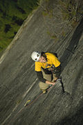 Rock Climbing Photo: Tristan leading pitch 2 on Hairpin, Papoose. Photo...