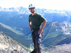 Rock Climbing Photo: Darren on the top of Snowpatch Spire, Bugaboos BC,...