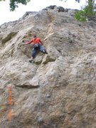 Rock Climbing Photo: On the upper part of Soft Touch