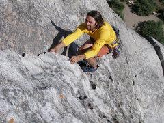 Rock Climbing Photo: The late James Welton on Wheat Thin