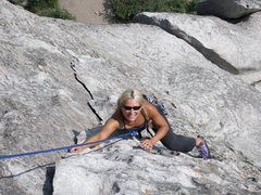 Rock Climbing Photo: Tara on wheat thin