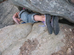 Rock Climbing Photo: the funnest part of the route