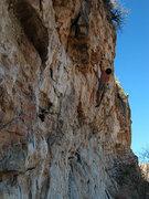 Rock Climbing Photo: Pete Piek fondling @ the crux.