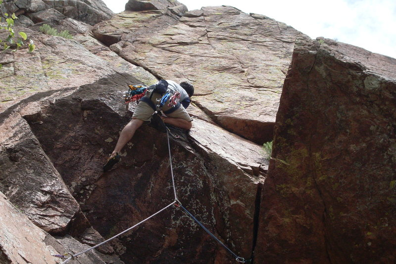 Meade pulling the crux May 2009
