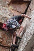 Rock Climbing Photo: Mike with the big cams in tow.  The Dihedral Memor...