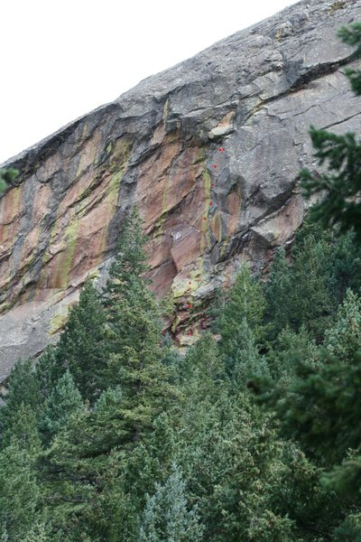 Rock Climbing Photo: Shalohsh 12a, the crux is at the top.