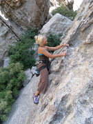 Rock Climbing Photo: Tara on Between heaven and Earth