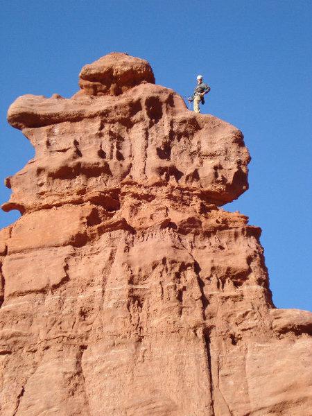 Tristan Hechtel on dunce rock