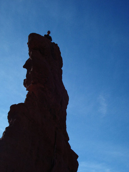 Tristan Hechtel on Dunce Rock